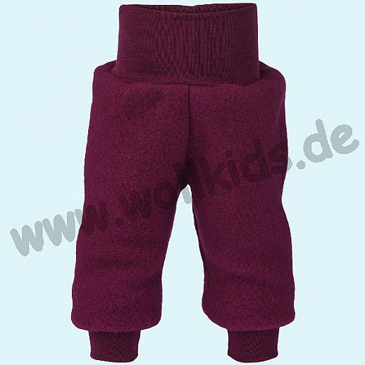 a5f916e0faa247 Engel Schurwoll-Fleece Hose mit Yogabund beere melange kbT Merino-Wolle