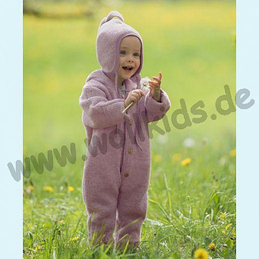 NEU: Engel Wollfleece Overall kbT Merino-Wolle Einteiler Anzug Merinowolle Fleece rosa rosenholz