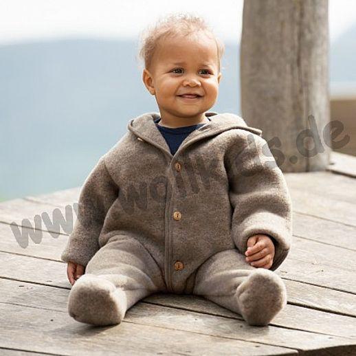 NEU: Engel Wollfleece Overall kbT Merino-Wolle Einteiler Anzug Merinowolle Fleece walnuß