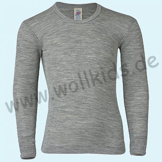 NEU: ENGEL GOTS Kinder LA Unterhemd Wolle Seide grau BIO waschbar