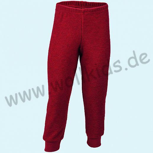Engel Schurwollfrottee Hose rot kbT Merino-Wolle Schlafanzughose