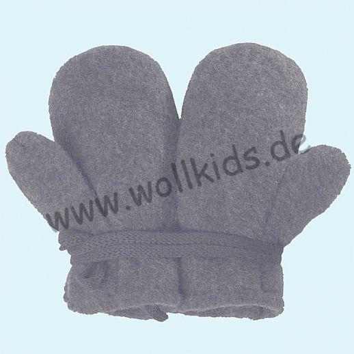 NEU in 3 Größen! PURE PURE by Bauer: Richtig warme weiche Wollfleece Handschuhe Fäustlinge grau melange