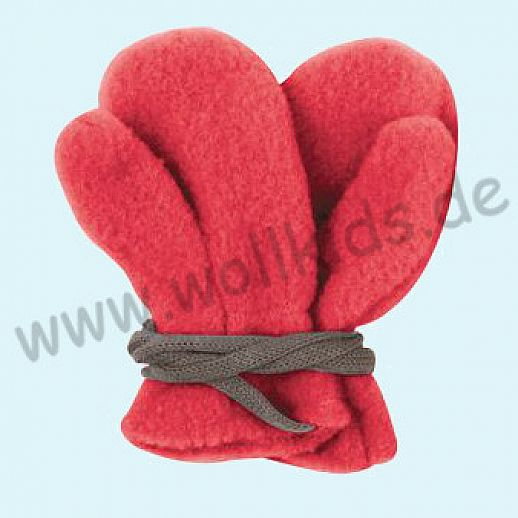 NEU in 3 Größen! PURE PURE by Bauer: Richtig warme weiche Wollfleece Handschuhe Fäustlinge rot