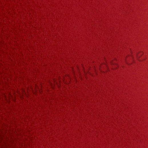 Taschenfilz, Filz ideal für Taschen, Kissen, Handyhüllen...- 80% Schurwolle - dunkelrot