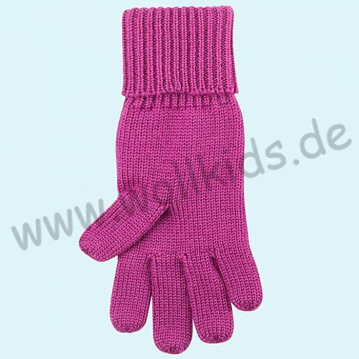 GENIAL: Fingerhandschuhe aus reiner Schurwolle für Kinder - beere