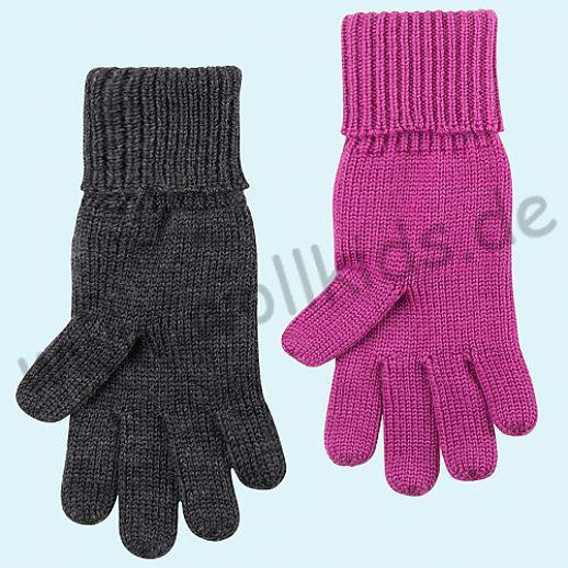 GENIAL: Fingerhandschuhe aus reiner Schurwolle für Kinder - Handschuhe die warmhalten!