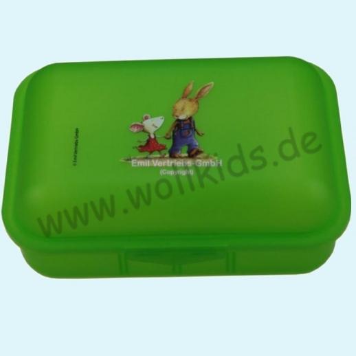 Emil die Flasche - Brotdose mit Innenteilung grün Freude fürs Leben