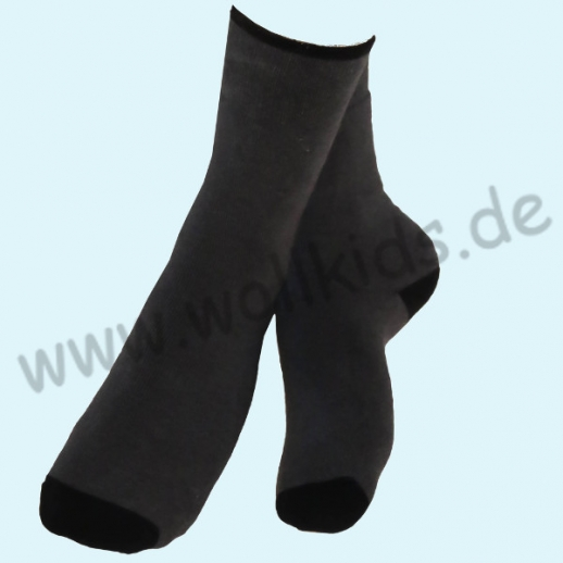 ALBERO - BIO Baumwolle - Damen- und Herrensocken Frottee Thermosocken anthrazit