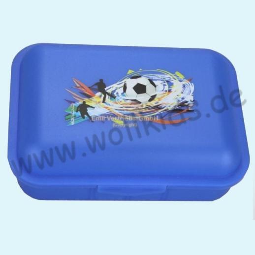 Emil die Flasche - Brotdose mit Innenteilung blau mit Fußball