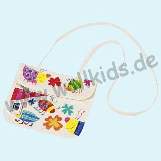 GOKI SET: Baumwoll-Brustbeutel - Fair Trade Baumwolle + Stoffmalstifte - Malspaß