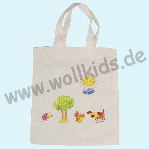 GOKI SET: Baumwoll-Tasche + Stoffmalstifte - Tasche - Umweltbeutel Malspaß