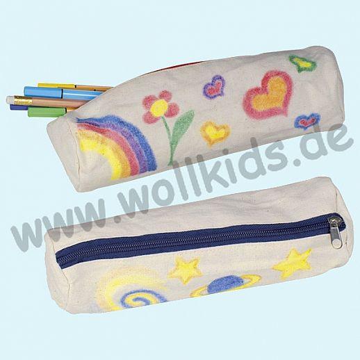 GOKI SET: Baumwoll-Etui + Stoffmalstifte - Schlampermäppchen - Malspaß