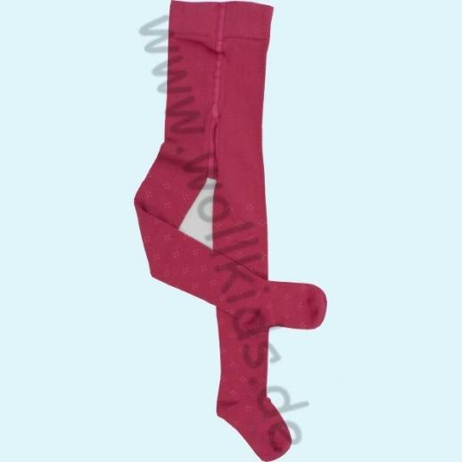 Grödo Kinder Strumpfhose mit Muster pink kbA BW