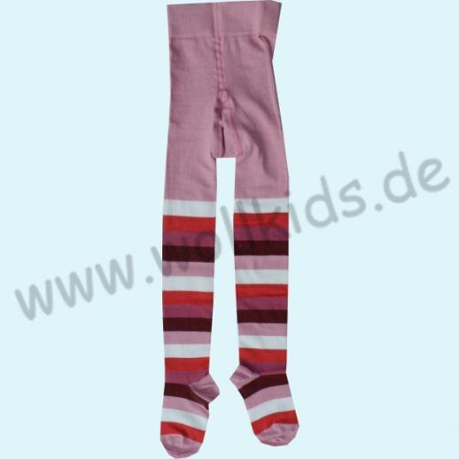 GRÖDO: NEU Kinderstrumpfhose Ringel rosa kbA BIO BAUMWOLLE