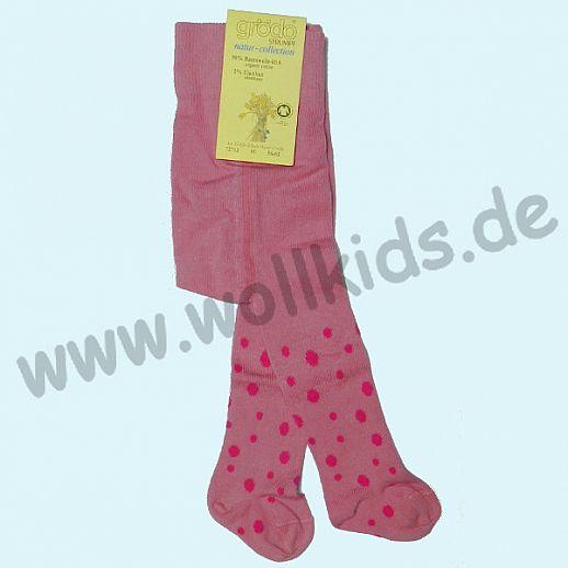 NEU: Grödo Baby Strumpfhose pink Punkte - BIO Baumwolle GOTS - ultrasüß