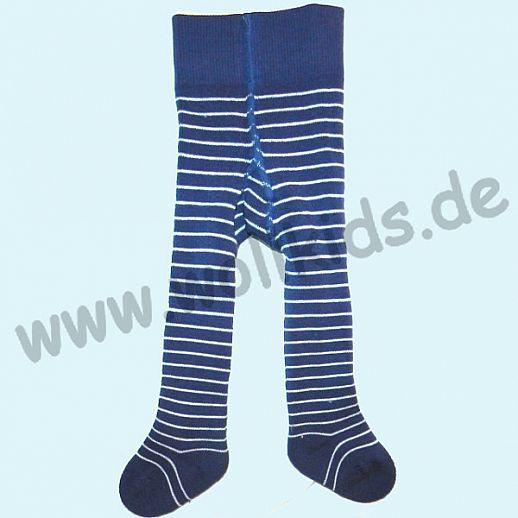 Grödo Baby Strumpfhose Babystrumpfhose Vollfrottee blau Ringel ORGANIC GOTS