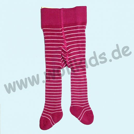 Grödo Baby Strumpfhose Babystrumpfhose Vollfrottee pink Ringel ORGANIC GOTS