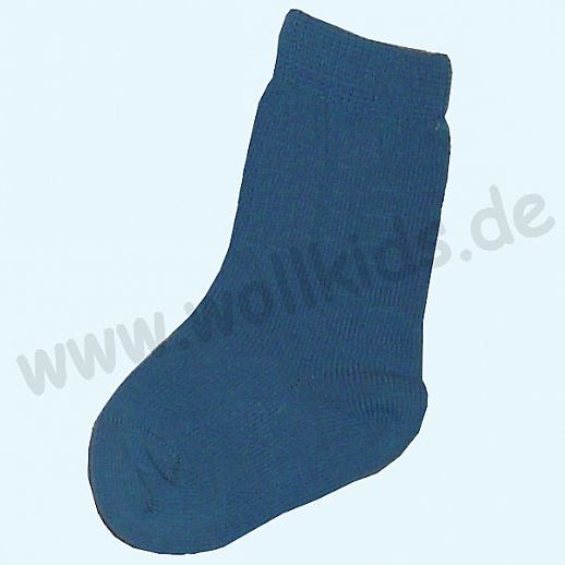 Süße Babykniestrümpfe blau ozean BIO Baumwolle Organic, natürlich warme Füße
