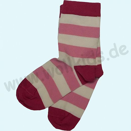 GRÖDO Natur Süße Kinder Socken Ringel kbA Baumwolle pink Ringel GOTS