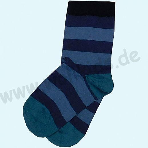 GRÖDO Natur Süße Kinder Socken Ringel kbA Baumwolle marine-blau Ringel GOTS