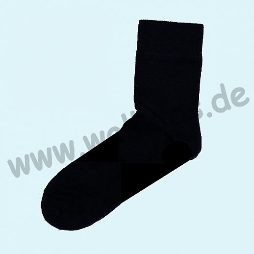 Grödo Damensocke - Herrensocke kbA Baumwolle schwarz GOTS