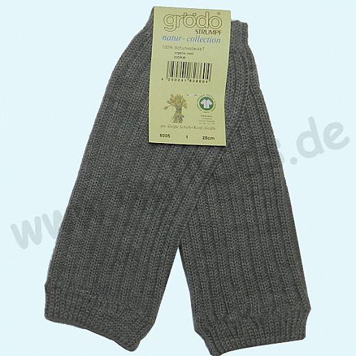GRÖDO - Beinlinge - Kinderstulpen - 100% kbT Schurwolle Beinwärmer BIO Organic grau