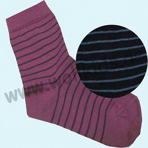 Süße Kinder-Socken Ringel kbT Schurwolle GRÖDO Natur marine hellblau