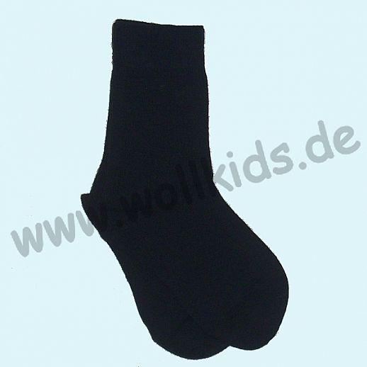 Warme Kinder-Socken kbT Schurwolle GRÖDO Natur marine dunkelblau
