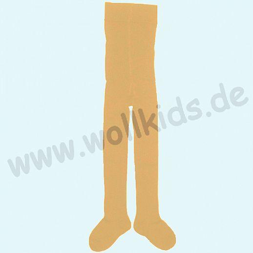 Grödo Kinder Strumpfhose uni kbA BW - safran curry - ORGANIC- sanft zur Haut