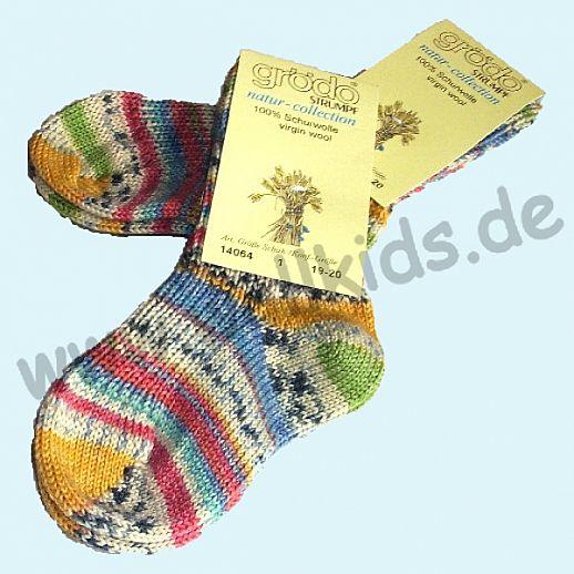 GRÖDO: Kindersocke Schurwolle wie handgestrickt - dicke Schurwollsocke