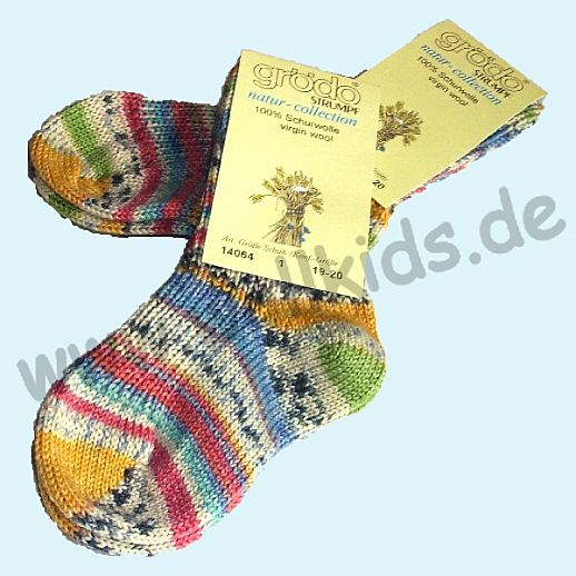 GRÖDO: Babysocke Schurwolle wie handgestrickt - dicke Schurwoll-Socke Socken