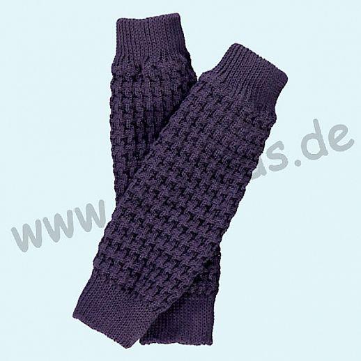 GRÖDO - Beinlinge - Stulpen - 100% kbA Baumwolle Beinwärmer BIO Organic lila violett