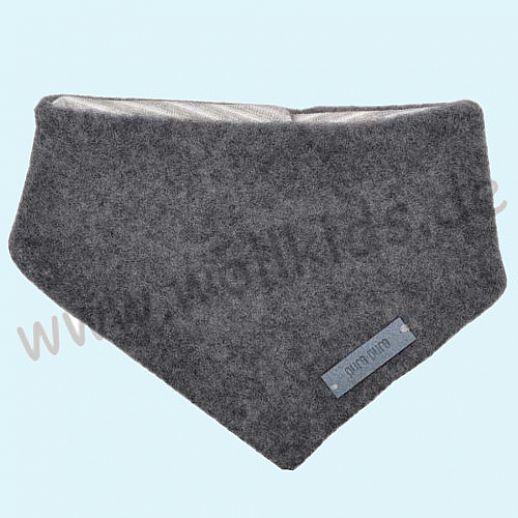Puretex Schal, Halstuch, Tuch, Dreiecktuch kbT Schurwolle Wollfleece - grau melange