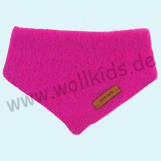 Puretex Schal, Halstuch, Tuch, Dreiecktuch kbT Schurwolle Wollfleece - pink