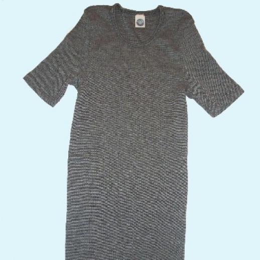 KA-Unterhemd - Seide/Wolle-Baumw. schwarz