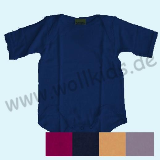 NEU: ALKENA Sonderfarben navy, beere, violett, aprikot - Body Kurzarm Bourette Seide - Neurodermitis