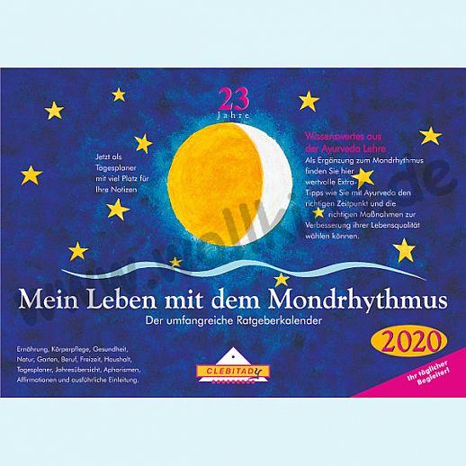 NEU: Mondkalender Mondrhythmus Taschenkalender 2020 aus dem Clebitady Verlag