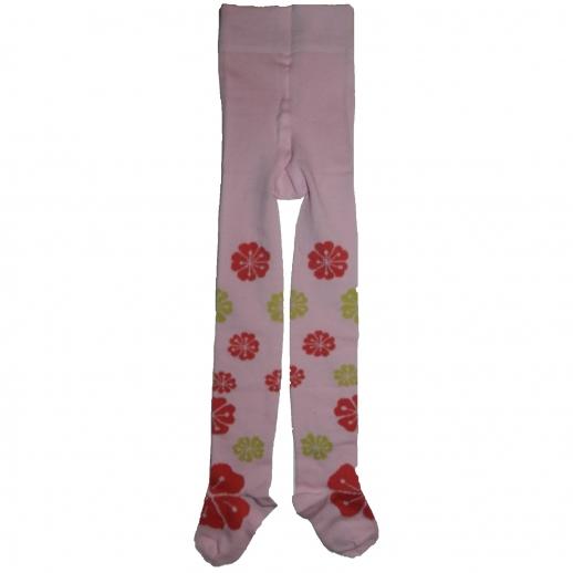 Kinder-Strumpfhose Blumen rosa kbA BW