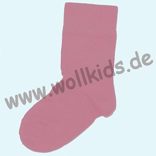 Grödo Kinder-Socken Rot kbA Baumwolle uni altrosa Socke BIO GOTS