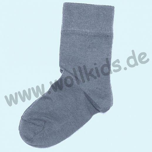 Warme Kinder-Socken kbT Schurwolle GRÖDO Natur hellgrau GOTS