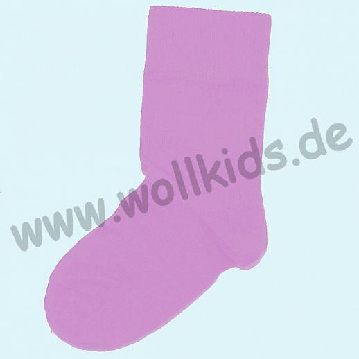GRÖDO: Socke BIO Kinder-Socken lila kbA Baumwolle uni rosa rose