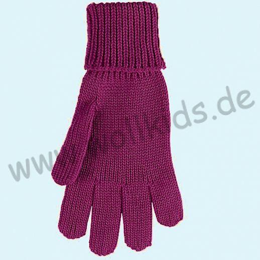GENIAL: PurePure Fingerhandschuhe für Kinder - Schurwolle kbT mit Seide Organic beere
