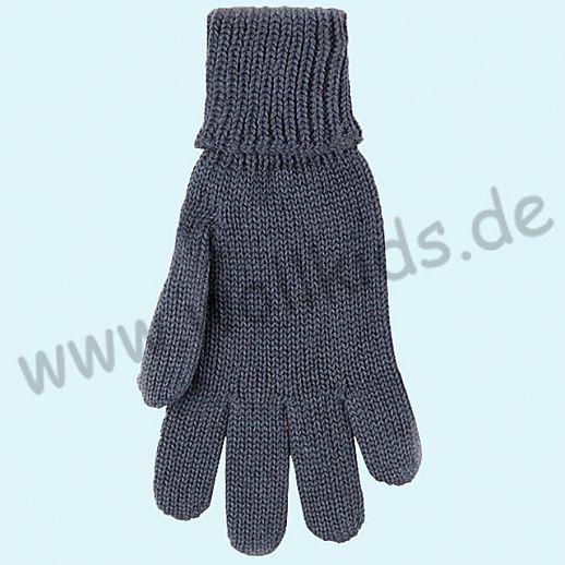 GENIAL: PurePure Fingerhandschuhe für Kinder - Schurwolle kbT mit Seide Organic grau