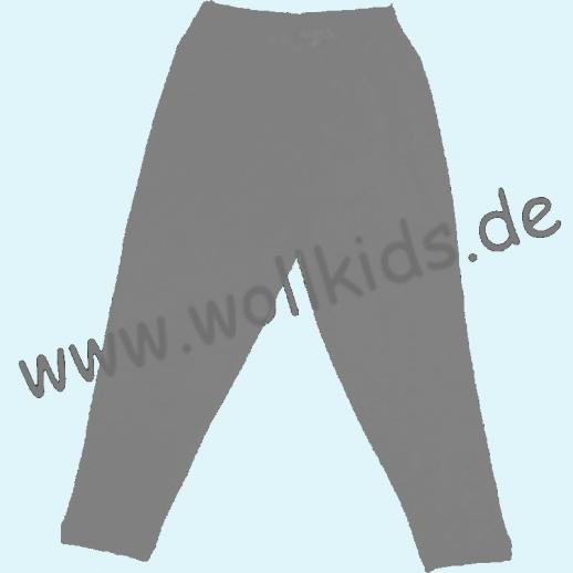 ALKENA Lange Kinder-Hose, auch als Schlafi, Bourette Seide grau, anthrazit, kirschrot