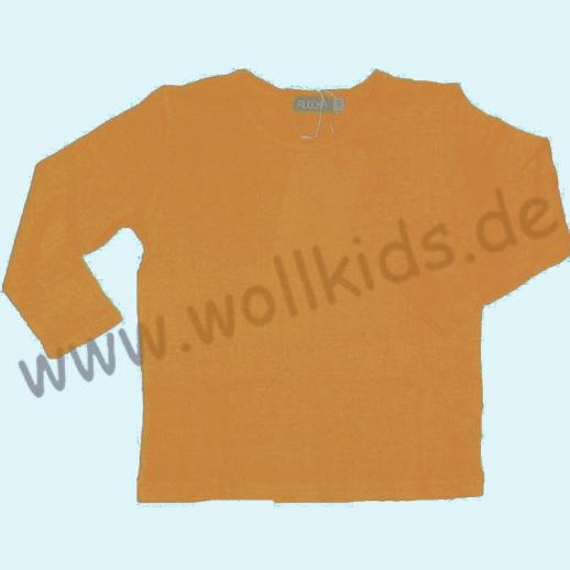 ALKENA Langärmliges Kinder-Shirt auch als Schlafi Bourette Seide violett, aprikot