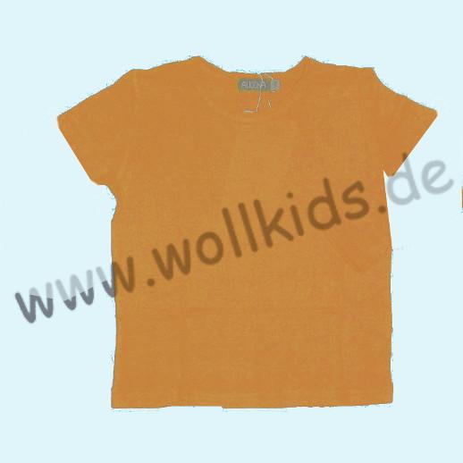 ALKENA Kurzärmliges Kinder-Shirt auch als Schlafi Bourette Seide violett, aprikot