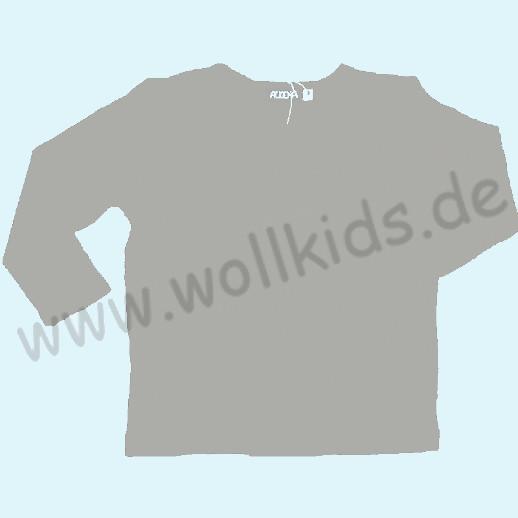 ALKENA Langärmliges Kinder-Shirt, auch als Schlafi, Bourette Seide hellgrau, grün, fuchsia