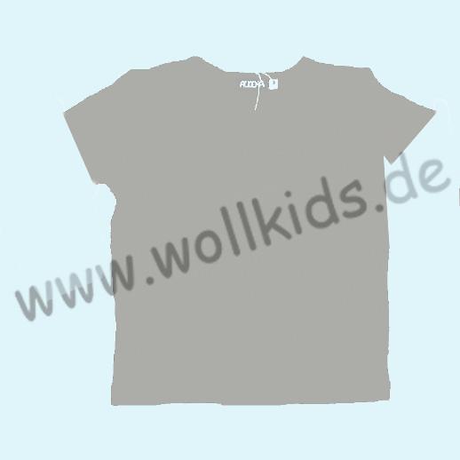 ALKENA Kurzärmliges Kinder-Shirt, auch als Schlafi, Bourette Seide hellgrau, grün, fuchsia