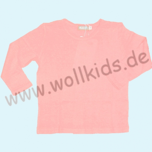 ALKENA Langärmliges Kinder-Shirt, auch als Schlafi, Bourette Seide natur, rosa, aqua