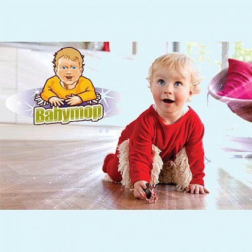 BABYMOP® Wischmop Strampler Overall Nicky rot 100% Baumwolle